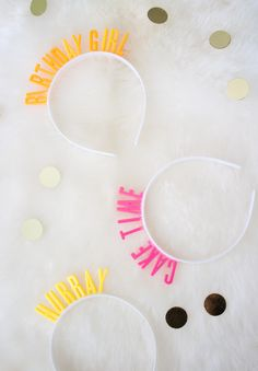 ADVENTURES IN FASHION: {DIY} Birthday Headbands