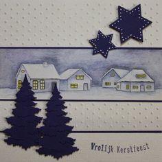 Marjoleine's blog: Allerlei blauwe kerstkaarten