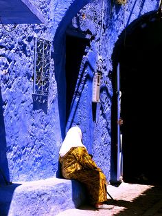 Chefchaouen Is A Small Mainly Berber Village Isolated In The Rif - Old town morocco entirely blue