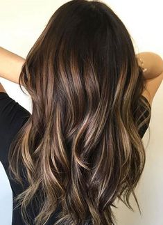 Love this dark hair color and style. Balayage Brunette, Balayage Highlights, Hair Color Balayage, Haircolor, Auburn Balayage, Hair Color Highlights, Ombre Hair, Short Blonde, Blonde Hair