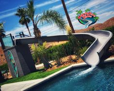 Whew! Bet that feels good to splash into cool with a Paradise Slides, Inc. #PoolSlide Model PS44L-C in Platinum. This ones being thoroughly enjoyed in California. #WaterSlide #SwimmingPoolSlide #WhatsInYourBackyard! Swimming Pool Slides, Swimming Pools, Water Slides, Marina Bay Sands, Paradise, Feels, Backyard, California, Building