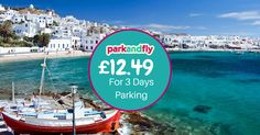 Have you ever been lucky enough to enjoy a majestic holiday to the white-washed Greek Islands? If you're jetting off somewhere beautiful before the end of October, pre-book Park & Fly airport parking online to save 20%! Book now at www.biaparkandfly.com
