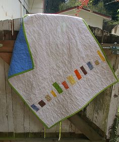 Quick baby quilt, great for scraps!