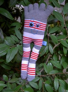 Easier (and equally cute) alternative to sock monkeys.