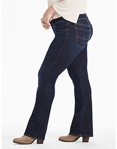 PLUS SIZE GINGER BOOTCUT JEAN IN TWILIGHT BLUE