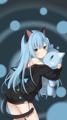 Kawaii Neko Girl, Lolis Neko, Loli Kawaii, Anime Girl Neko, Cool Anime Girl, Cute Anime Pics, Chica Anime Manga, Anime Chibi, Anime Art