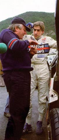 Montecarlo '86 Henri Toivonen talks with Giorgio Pianta (photo by Dario Talmelli)