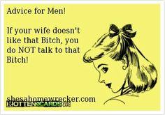 Advice for men