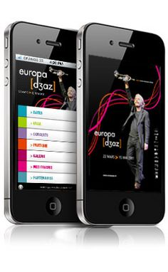 Application iPhone Europa Jazz Festival (By www.imagescreations.fr)
