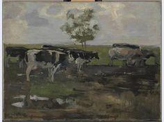 Koeien in de wei, Piet Mondriaan, 1905.