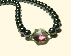 Crystal - Black Pearl  Necklace - pinned by pin4etsy.com