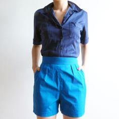 Short en coton et soie Lacoste