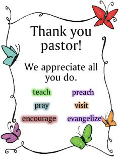 Thank You Pastor - Bing images