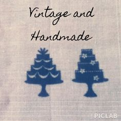 """I just added this to my closet on Poshmark: Vintage Hand Stamped Cake Hankie. Price: $10 Size: 14.25"""" x 14.25"""""""