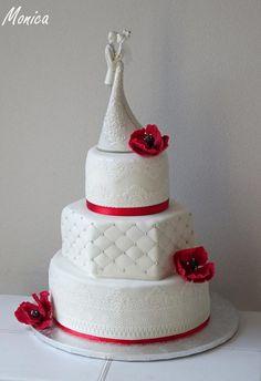 Svadobná torta. Autorka: Monica. Tortyodmamy.sk
