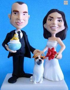 Nossos noivinhos cartoons não são feitos em biscuit. Eles tem a melhor tecnologia para ter a durabilidade e um ótimo acabamento e dar um show na sua festa de casamento!  www.noivinhostopodebolo.com
