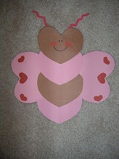 Valentines Day bee made out of hearts...cute! #Home