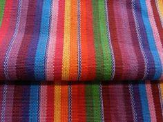 Stoffe Baumwolle Robust Bezugsstoff Streifen Regenbogen Rot Gelb Grün #59/1111 | eBay