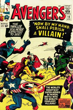 For sale avengers 15 marvel comics 1965 stan lee jack kirby artwork don heck captain america thor iron man giant man wasp rick jones death zemo masters of evil silver age comic book emorys memories. Marvel Comics, Marvel Comic Books, Comic Books Art, Comic Art, Book Art, Marvel Dc, Comic Superheroes, Marvel Characters, Jack Kirby
