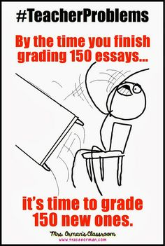 By the time you finish grading 150 essays it's time to grade 150 more. #TeacherProblems  This seems to be my classroom theme this year.