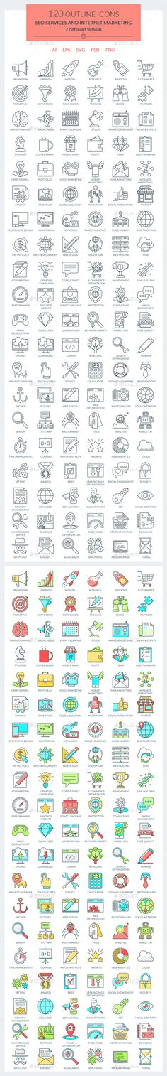 SEO Services and Internet Marketing Icons  #ecommerce #engine #icon • Available here → http://graphicriver.net/item/seo-services-and-internet-marketing-icons/15130741?s_rank=61&ref=pxcr