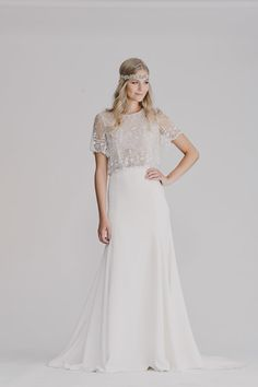Wedding dress with sleeves KATE GOWN A Gorgeous 20's by RISHbridal
