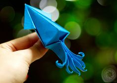 squidtopia: Squid Origami by Photos by Nadine on Flickr.