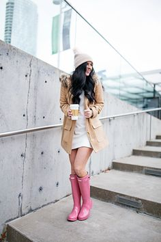 Pink Hunter Boots- Gal About Town- Dallas Fashion Blog