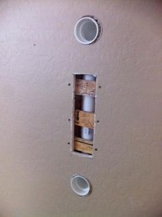 How to hide your wiring to your mounted flat screen tv. Totally doing this when…
