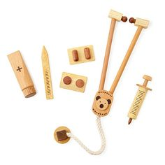 Look what I found at UncommonGoods: wooden doctor play set... for $35 #uncommongoods