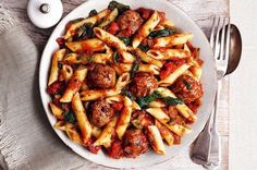 Slimming World recipes: Meatballs and pasta in a spicy tomato sauce - Mirror Online