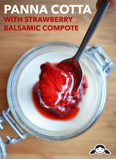 Panna Cotta with Strawberry Balsamic Compote | Award-Winning Paleo Recipes | Nom Nom Paleo