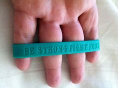 "ENGRAVED WITH THE WORDS ""BE STRONG FIGHT PCOS"" TO REMIND YOU THAT EVERYDAY IS A BATTLE WITH THIS UNCURABLE DISEASE. TO HELP YOU BE STRONG & NEVER GIVE UP YOUR FIGHT. EVERY LITTLE MILESTONE HELPS & IS A WIN."