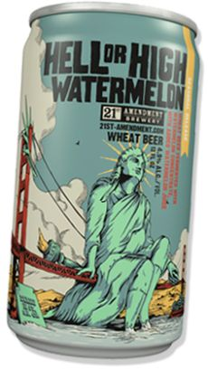 hell or highwatermelon ale-21st Ammendment #craftbeer #beersnob