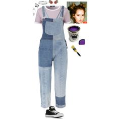 Paintbrushes & 80's Music by stinze on Polyvore featuring RE/DONE, Converse, Dolce&Gabbana, Disney, CLUSE and Tiffany & Co.