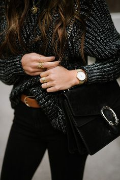 d44784dc85ad Bag  tumblr black gucci gucci dionysus designer sweater chunky knit grey  sweater ring gold ring