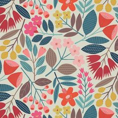 new ideas flower art design floral Design Textile, Textile Patterns, Flower Patterns, Print Patterns, Flower Pattern Design, Textile Art, Design Art, Print Design, Textiles