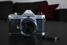 Asahi Pentax KX from K series 1975-1977. Higher end model with all the bells and whistles. With nice 55mm f1.8 lens.