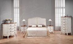 Caracteristicas de la Coleccion Vintage Chantal : Un interior femenino y romantico: todo en un acabado blanco roto desgastado con la tapa en madera vista. vintage chic en Portobellostreet.es