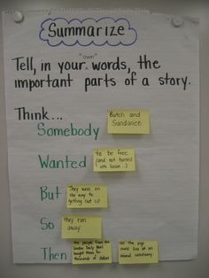 S.W.B.S.T - parts of a story summary