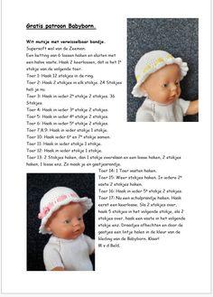 Beren, Baby Bjorn, Baby Dolls, Doll Clothes, Knitting Patterns, Crochet Hats, Clothing, Tricot, Breien