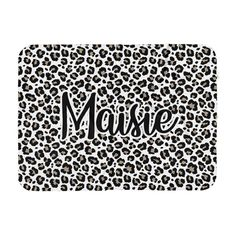 Leopard personalized name blanket