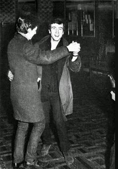 Beatles Paul McCartney and John Lennon dancing!