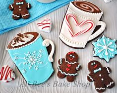 Ali Bee's Bake Shop: WFD? Hot Cocoa Roll Out Cookies