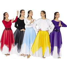 Single Handkerchief Liturgical Dance Skirt $18.00. I want these so bad!!!