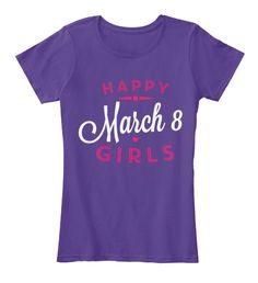 Women's Day T Shirts 2017 Purple Women's T-Shirt Front