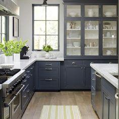 smokey blue grey in the kitchen