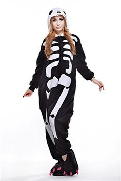 Introducing Skeleton Unisex Onesies Pajamas Kigurumi Cosplay Halloween  Costumes. Get Your Ladies Products Here and 573ba1820dd5