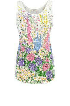 Floral Scoop Vest