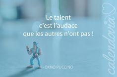 Le talent c'est l'audace que les autres n'ont pas. (Oxmo Puccino) #quote #citation #nike